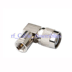 RF Connector adapter TNC Plug to FME Plug Right Angle