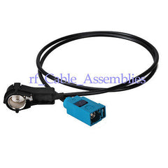 Superbat / VW Antenna adapter ISO-FAKRA (MFD 2, Delta) 50 Ohm, M / F cable RG174 60cm
