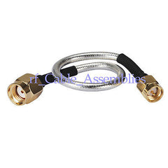 RP SMA male female to SMA plug pigtail Coxial Semi-Flexible cable RG402 0.141