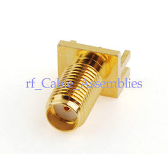 SMA End Launch female Jack PCB Mount wide flange .062  medium RF Connector