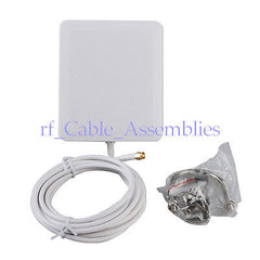 10dbi 2300-2700Mhz 4G LTE antenna aerial Panel mount RP SMA Male 140*120*25mm