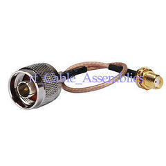 N male to SMA female bulkhead nut pigtail Cable RG316 for wireless antenna
