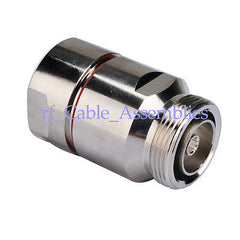 7/16 Din female Jack center Clamp Corrugated copper 7/8  cable RF coaxial connector