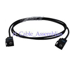 Radio extension cable Fakra A black female to female RF pigtail RG174 1M