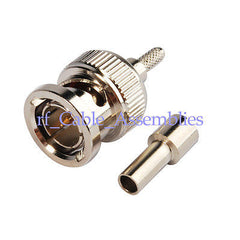 10pcs BNC male plug Straight crimp RG179 RG187 RG316 cable RF connector 75ohm