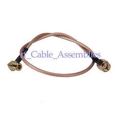 10x RP SMA male to SMB female right angle pigtail cable for 3g gsm gps antenna