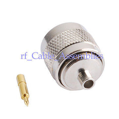 25 PCS N male connector Semi-rigid cable .141'' RG402
