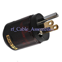 Audio Vadio P-079 Gold-Plated Pure Copper Poles US Power Plug IEC male