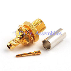 MCX Jack female nut bulkhead Straight RF connector Solder Crimp RG316,RG178,1.13