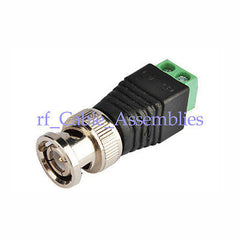 2x Coax CAT5 To Camera CCTV BNC Video Balun Connector free shipping
