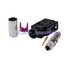 Fakra SMB A,B,C,D,E,F,G,H,I,K,Z female Jack crimp LMR195 RG58 cable RF connector