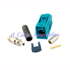 Fakra crimp Jack connector Waterblue/5021Neutral coding