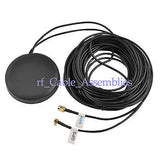 Amplified Remote GPS+GSM Combined Antenna SMA / MCX male RF connector HOT