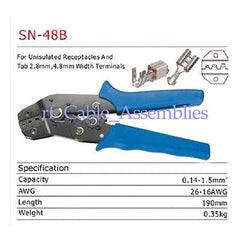 Crimping Tool unisulated receptacles tab 2.8/4.8mm width terminals Crimper Plier