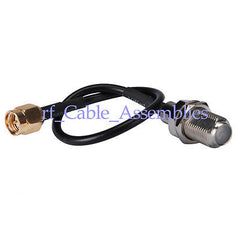 10pcs SMA plug male to F-Type Jack female pigtail cable RG174 for Wi-Fi Radios