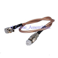 Superbat Antenna Cable adapter FME Jack to CRC9 RA to Huawei USB