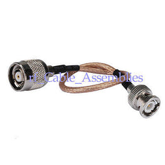 RP-TNC male plug to BNC male plug RF Pigtail Coax cable RG316 for wifi router