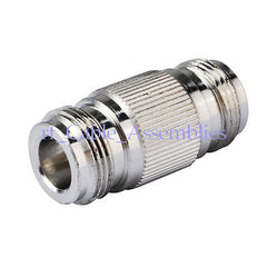10X N female Jack to N Jack straight coax connector adapter couplers Zinc Alloy