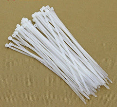 250pcs 8  inch White Network Cable Cord Wire Strap Zip Tie Nylon 8*200mm durable
