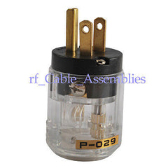 IEC320 Connector Audio IEC Male Plug Connector Clear AC 5A 125V P-029