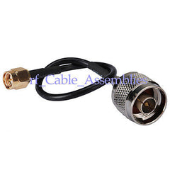 N plug male to SMA plug RF Coaxial pigtail cable RG174 RG316 for wifi antenna