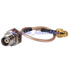 SMA to TNC RF Radio Antenna Coax Adapter Kenwood Cable