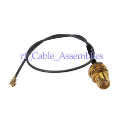 IPX / u.fl to RP-SMA female Pigtail , 50 Ohm ,Cable IPX 1.13