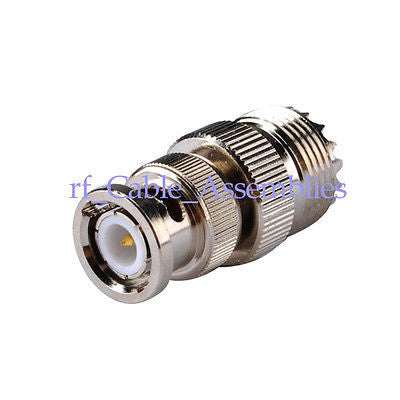 10pcs UHF female SO239 SO-239 jack to BNC male plug RF coaxial adapter connector