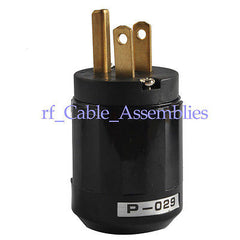 Brand New Brass Audio Grade Brass US Power Plug 10A/250V- 15A/125V P-029 (Black)