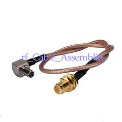 10pcs RP SMA Jack female to TS9 plug pigtail cable RG316/RG174 15cm for Huawei