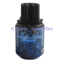 New C-037 Rhodium Plated For Audio IEC plug, connector