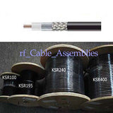 RF Coaxial Cable KSR195 50ft feet -High Quality Low Loss Cable
