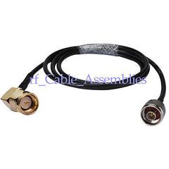 N plug male to SMA plug right angle pigtail Coax cable KSR195 for WLAN Antenna