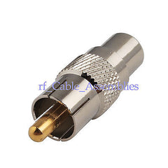 RCA Plug male to RCA Jack female straight Coaxial Audio Converter Adapter