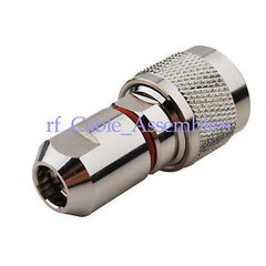 N Plug connector for Corrugated copper 1/4  cable straight RF Connector