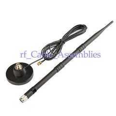 9dB 3G magnetic GSM/3G/UMTS/CDMA antenna RP SMA male with strong Magnetic Base