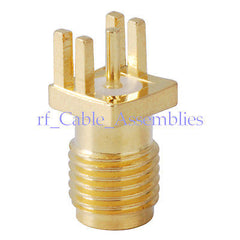 10x SMA female jack End Launch PCB Mount .040  (1mm) RF connector adapter