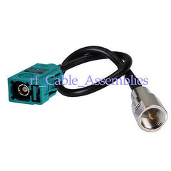 Fakra  Z  female Jack to FME plug pigtail cable RG174 for GPS GSM Car Antenna