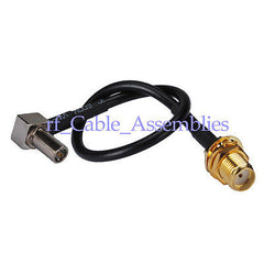 10X SMA Jack female to MS-147 plug right angle pigtail cable for Novatel Wireles