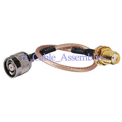 RP-TNC male female to SMA female Jack Adapter pigtail cable RG316 for wireless
