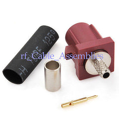 Fakra crimp plug connector Bordeaux D for GSM Cellular