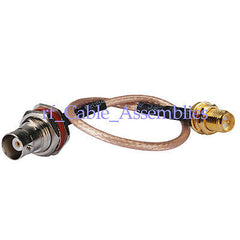 Superbat BNC Jack female to RP-SMA Jack female pigtail Cable