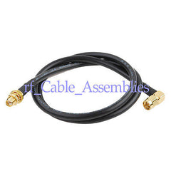 10X SMA Plug male Right Angle to SMA female Pigtail cable RG58 50CM for wifi