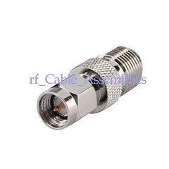10pcs SMA Male Plug to F-Type Female jack straight RF Coax Connector Adapter