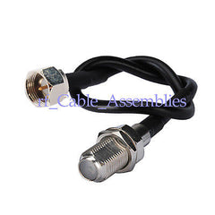 F male plug to F jack female bulkhead straight Pigtail cable RG174 Wi-Fi Radios