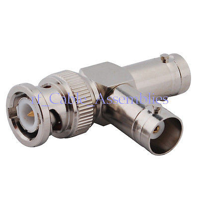 Bnc T Type Connector 1 Bnc Male To 2 Bnc Female Jack