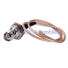 10X IPX / u.fl to RP-TNC female jack bulkhead for pigtail cable RG178 20cm wifi