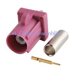 Fakra crimp Plug RF connector Key Code H Violet for GPS