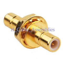 10pcs SMB male to SMB male plug nut bulkhead in series RF coax adapter connector