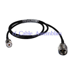 UHF SO239 SO-239 female jack to Mini UHF male plug for pigtail cable RG58 50cm